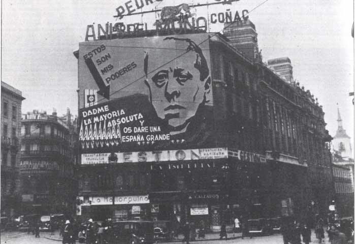 Imagen de campaña de José María Gil Robles, líder de la CEDA