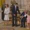 El Rey estuvo a punto de caerse en un momento de la ceremonia