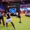 'Dance Central': Dos asistentes a la feria practican con el juego Dance Central, para Xbox One.