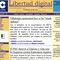 7 de abril de 2000: Así era el primer diseño de Libertad Digital. Se mantuvo desde el arranque de nuestro diario, el 8 de marzo de 2000 hasta noviembre de ese mismo año.