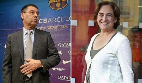 Primera toma de contacto entre Bartomeu y Ada Colau sobre el Espai Barça -  Libertad Digital