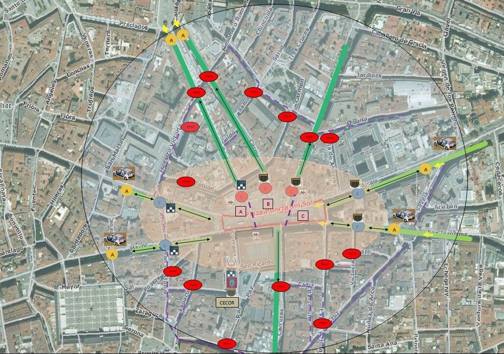 Mapa Puerta Del Sol.La Puerta Del Sol Tendra Por Primera Vez Un Aforo Maximo En
