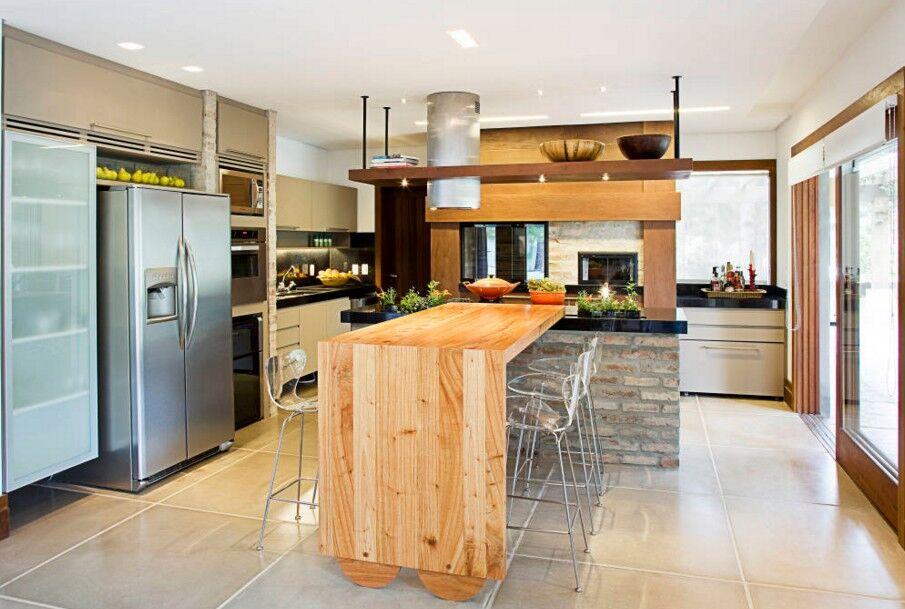 En Perpendicular Islas Y Peninsulas Pero En Cocinas - Imagenes-de-islas-de-cocina