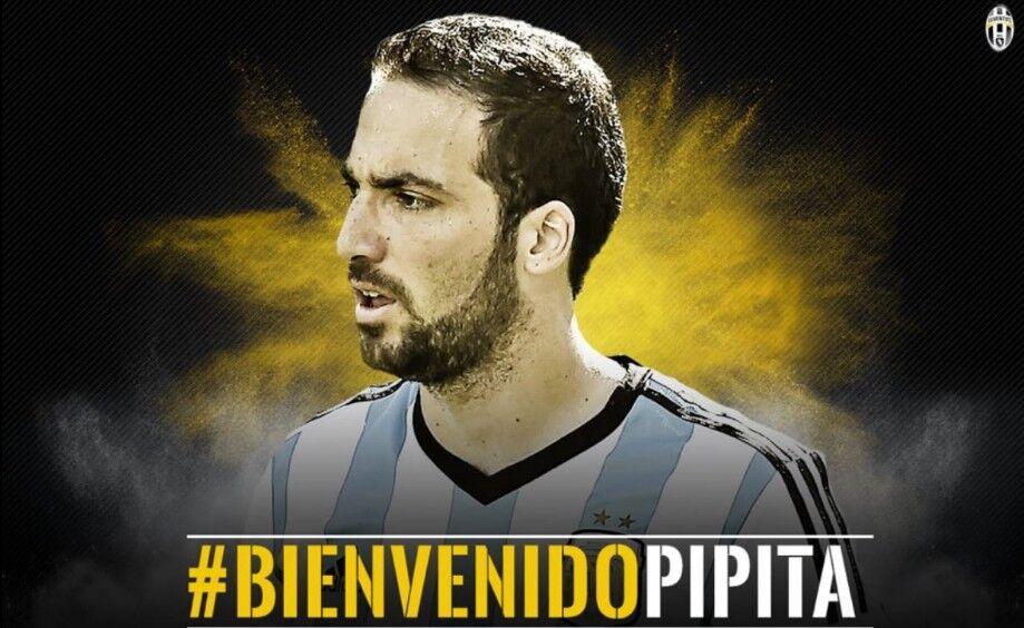 La Juventus de Turín da la bienvenida a Gonzalo Higuaín.  e9071de85d386