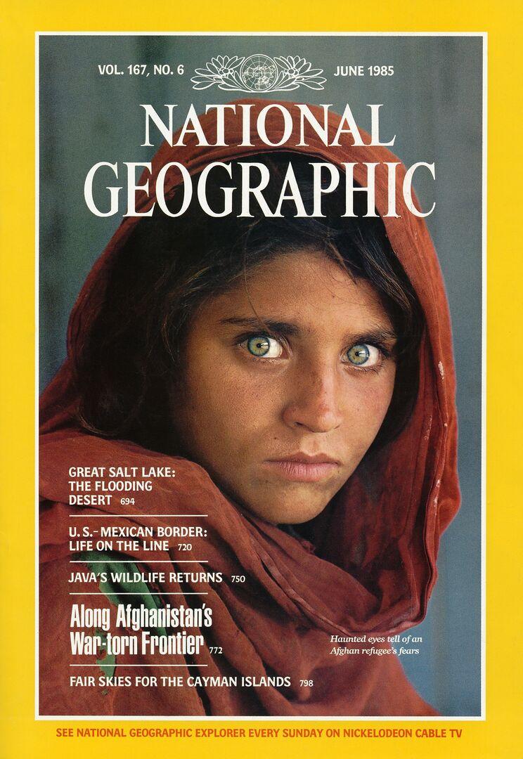 La niña afgana de 'National Geographic',