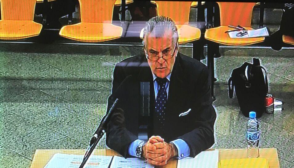 Bárcenas declarando ante el tribunal