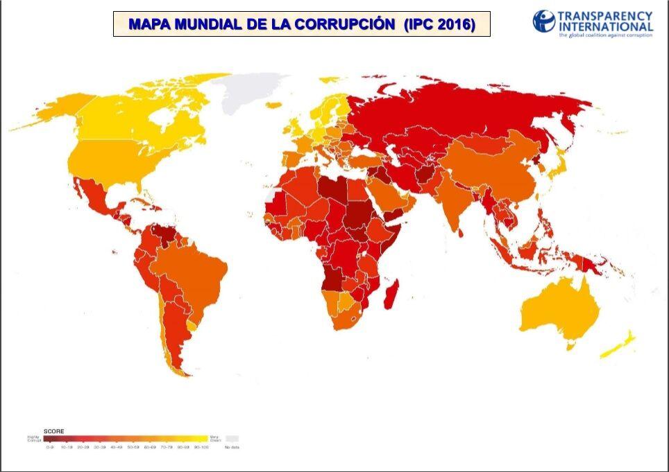 Mapa Corrupcion España 2017.Espana Registra La Peor Posicion De Su Historia En