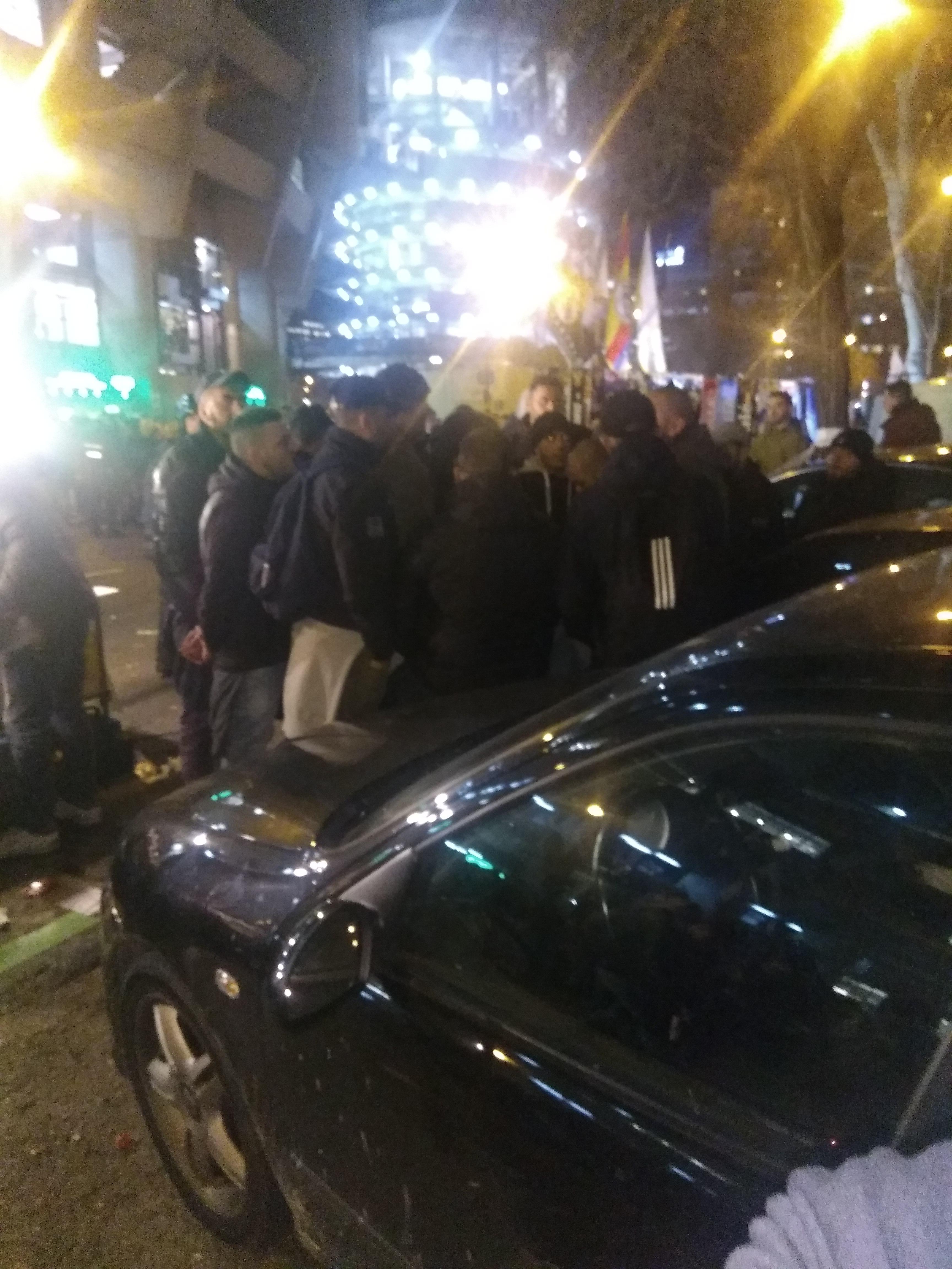 El alma negra de los ultras del Nápoles recorre Madrid