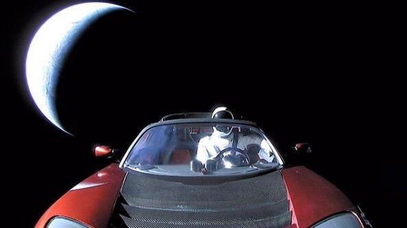 Image result for coches lanzado al espacio