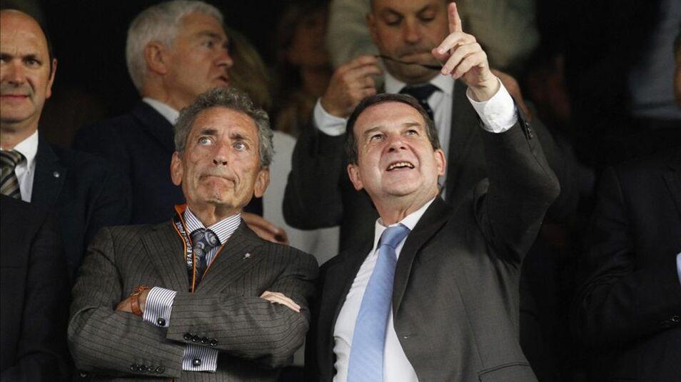 Carlos Mouriño y Abel Caballero en Balaídos (Foto: EFE).