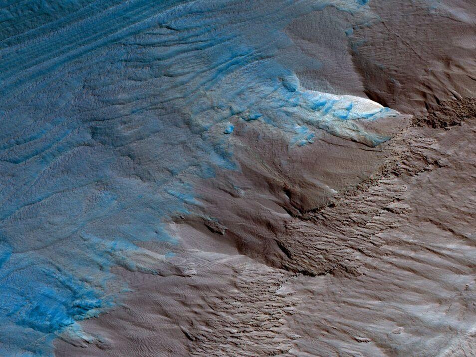 Encuentran evidencias de que Marte pudo albergar vida Polo-sur-marte