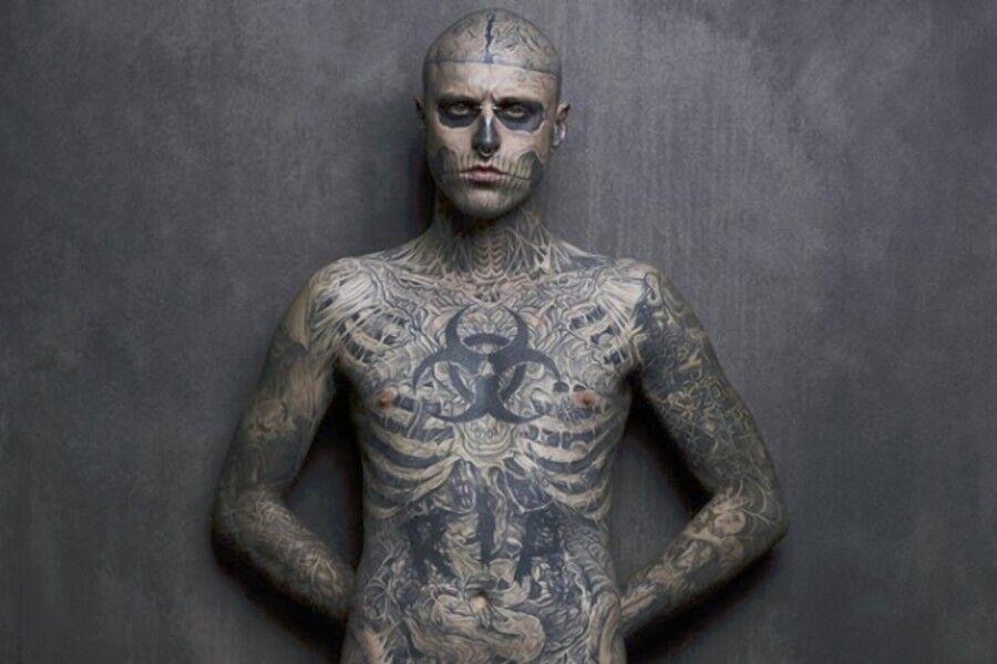 Tatuajes Cuerpo Entero hallan muerto al excéntrico modelo zombie boy - chic