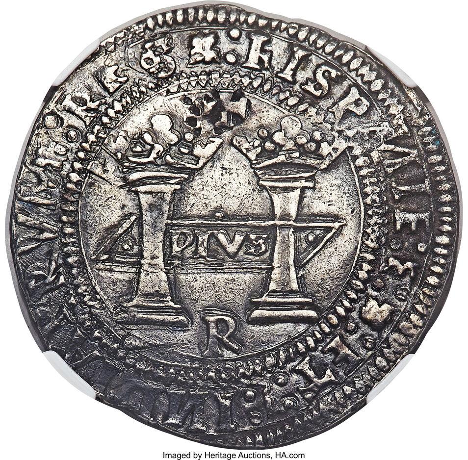 La primera moneda americana era española y será subastada con un precio inicial de 500.000 dólares 1538FirstDollaroftheAmericasFRONTcreditHeritageAuctions