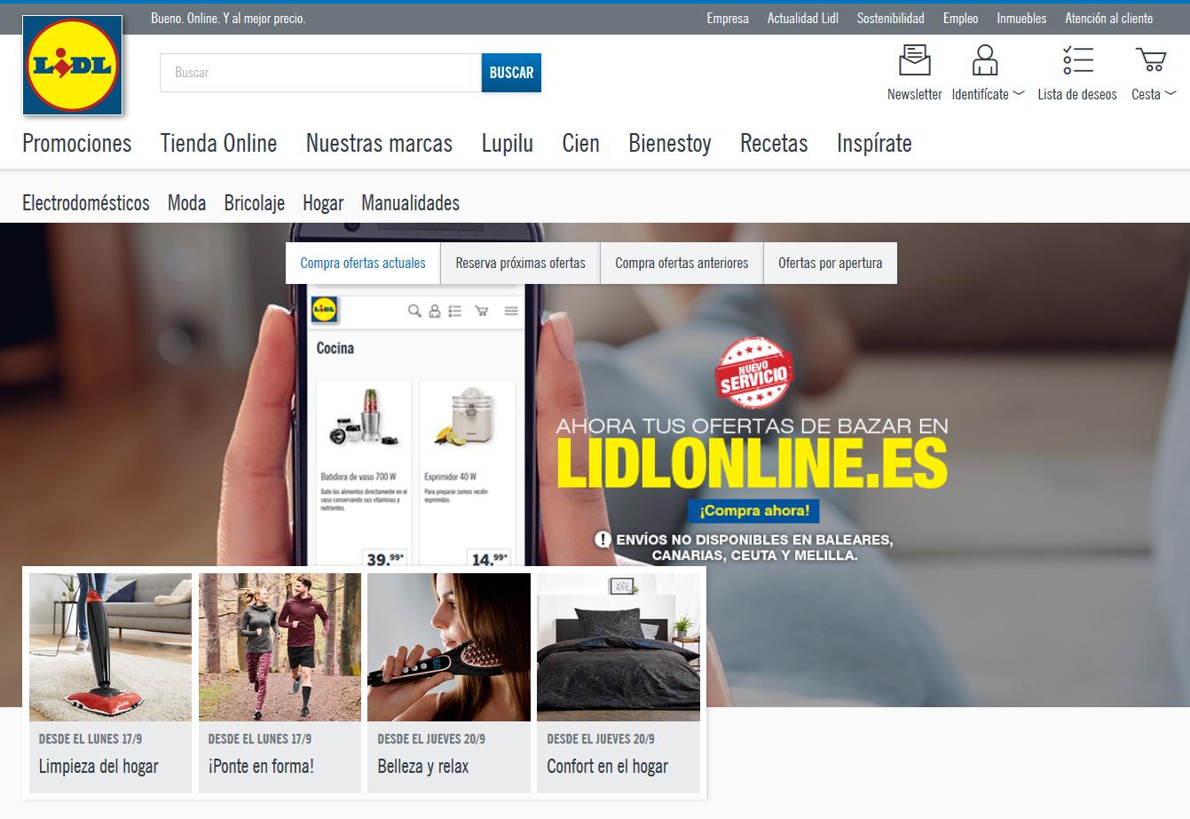 9e294ddad20b6 Lidl lanza su tienda online de bazar en España - Libre Mercado