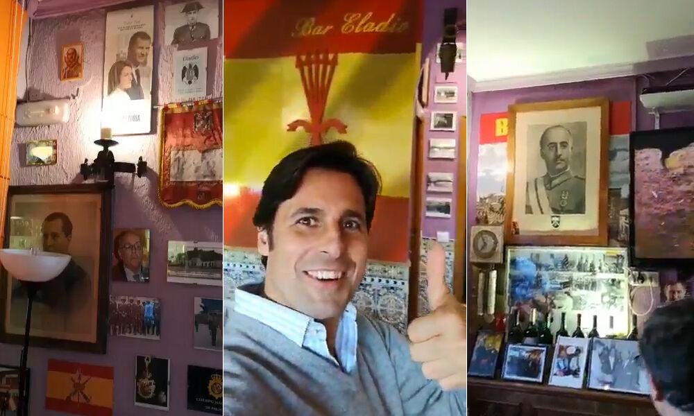 Polémica por la filtración de un vídeo de Fran Rivera en un 'bar franquista'