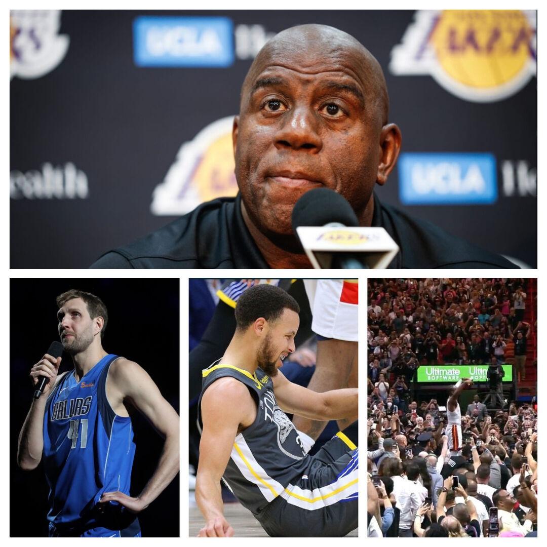 22faf3ebb86 Vaya noche en la NBA: Magic Johnson deja los Lakers, homenajes a ...