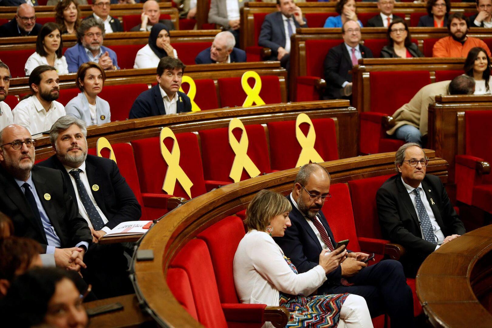 El separatismo recupera la mayoría en el 'Parlament' tras las renuncias de los presos que van al Congreso