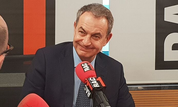 Zapatero, durante la entrevista en Rac1 |  Europa Press
