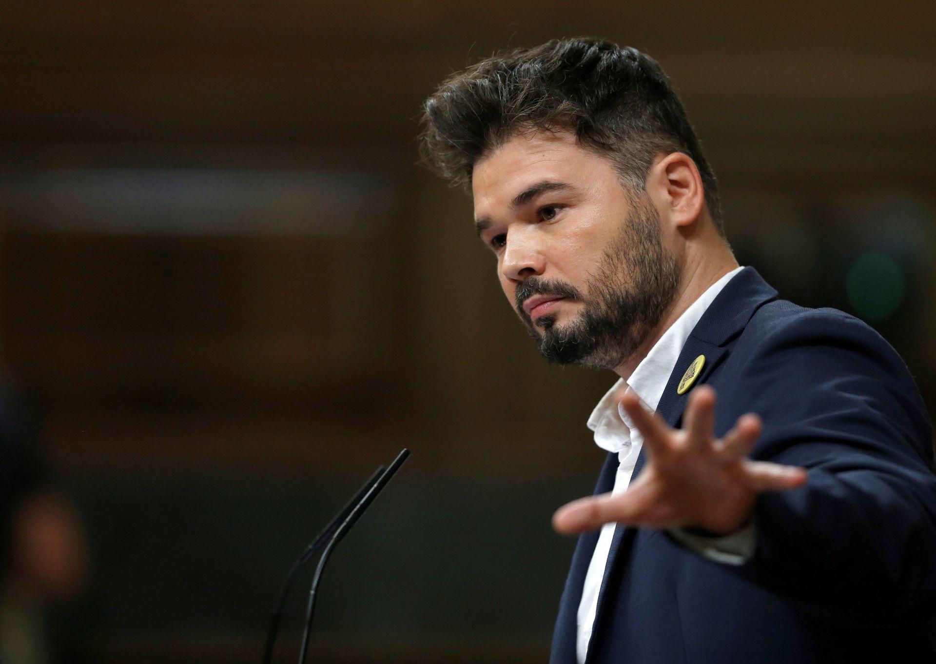 """Rufián amenaza al Gobierno con las """"consecuencias"""" de no contar ..."""