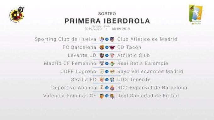 Calendario La Liga 2019.La Nueva Temporada De Liga Iberdrola Arrancara Con Un Barcelona Real
