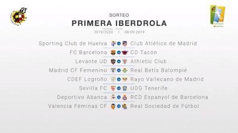 Sorteo Calendario Liga 2020.La Nueva Temporada De Liga Iberdrola Arrancara Con Un
