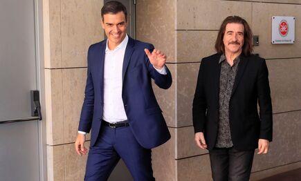 Pedro Sánchez se ha reunido con asociaciones culturales este viernes |  EFE