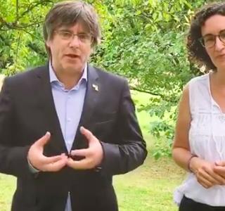 Ponen el himno de España cuando Quim Torra hacía la ofrenda floral por la Diada
