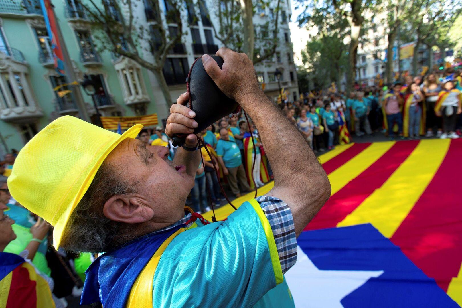 Pinchazo en la Diada 'presentencia': 400.000 manifestantes menos que en 2018