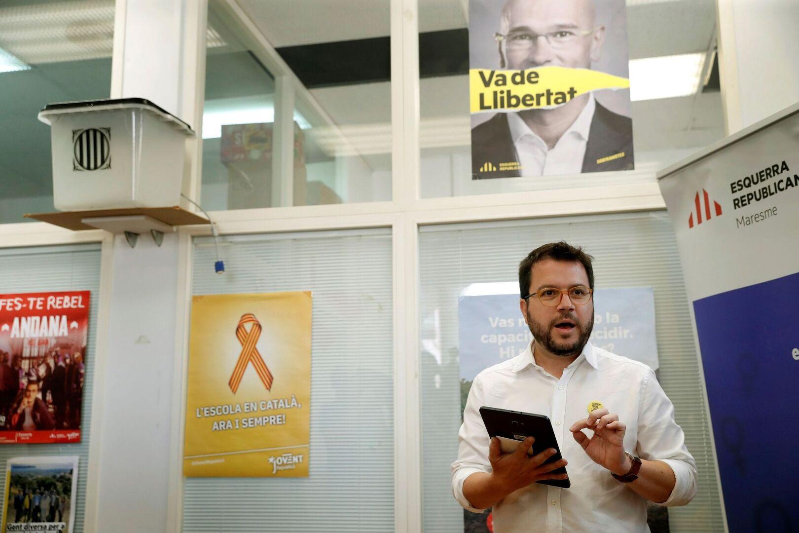 ERC ratifica el liderazgo de Junqueras y a Aragonès como adjunto del preso