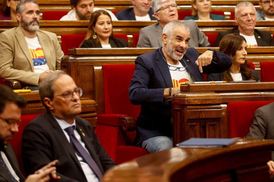 Dura intervención de Ciudadanos en el pleno en Cataluña, donde ha responsabilizado a Torra de la violencia.