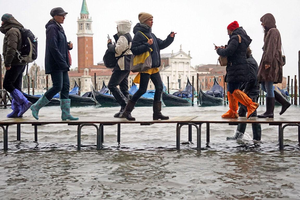 Seguro que has visto Venecia inundada ¿Pero la conoces sin agua? Inundaciones-venecia-noviembre-2019-3