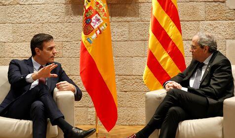 Torra comunica a Moncloa que el lunes no puede ir y propone otras cinco fechas para verse con Sánchez