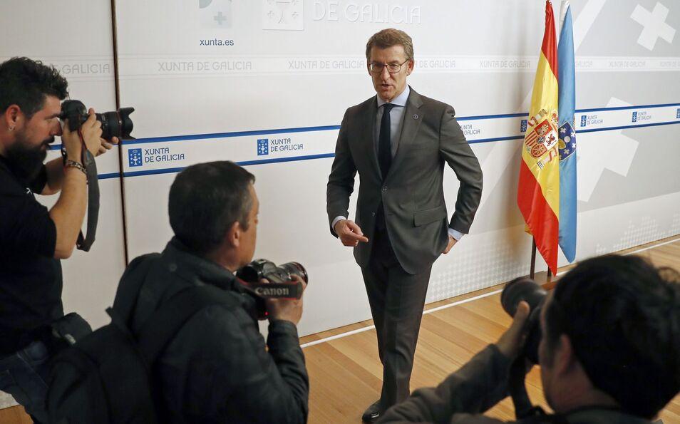 Feijóo, molesto con las formas de Cs: `Nadie se ha puesto en contacto con el PP de Galicia`