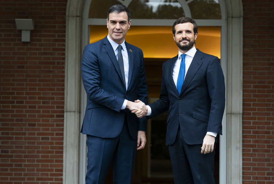 Fracasa la reunión SánchezCasado: `El Gobierno constata que el PP sigue instalado en el bloqueo`