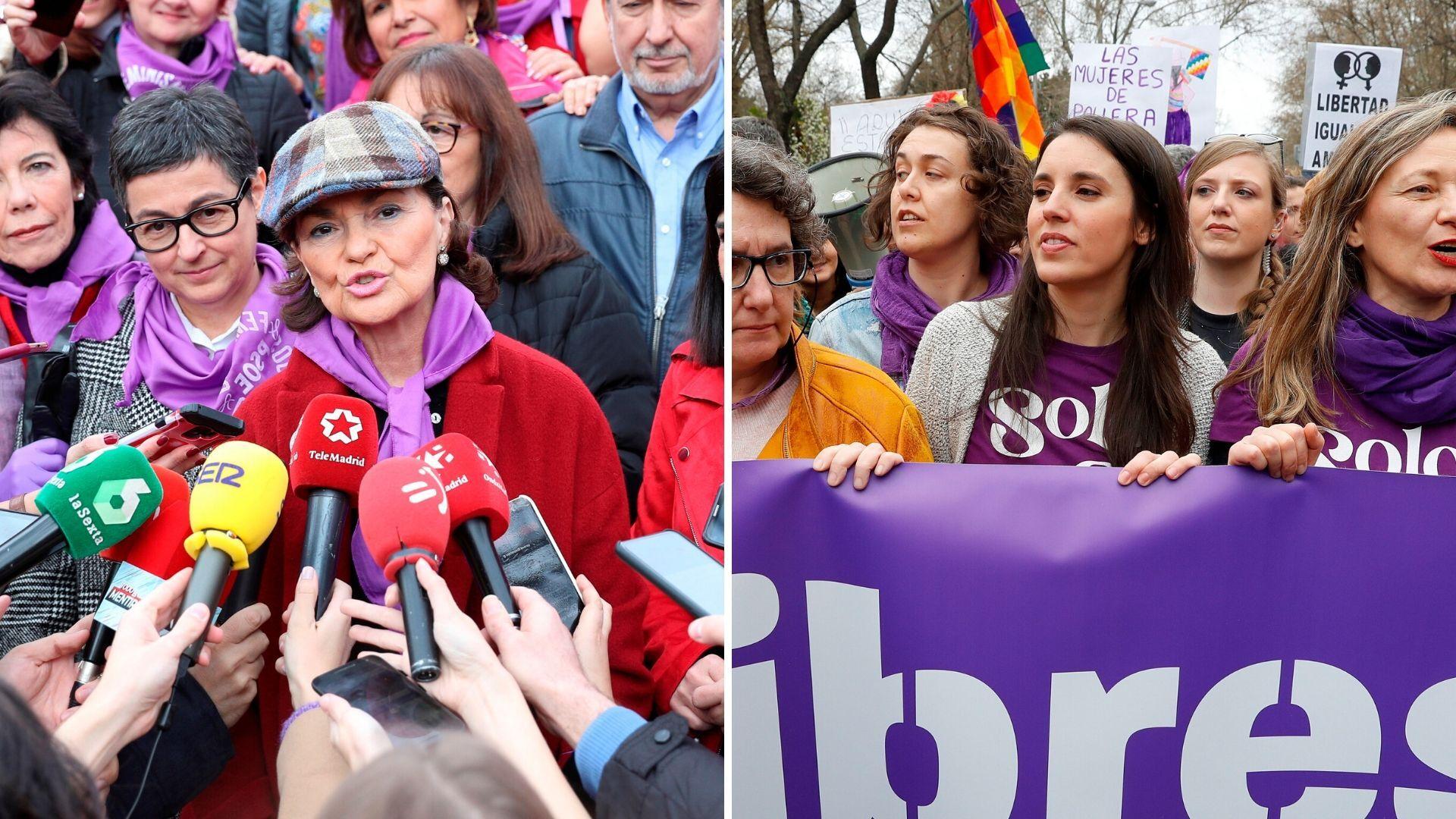 Resultado de imagen de manifestacion feminista ministra de igualda