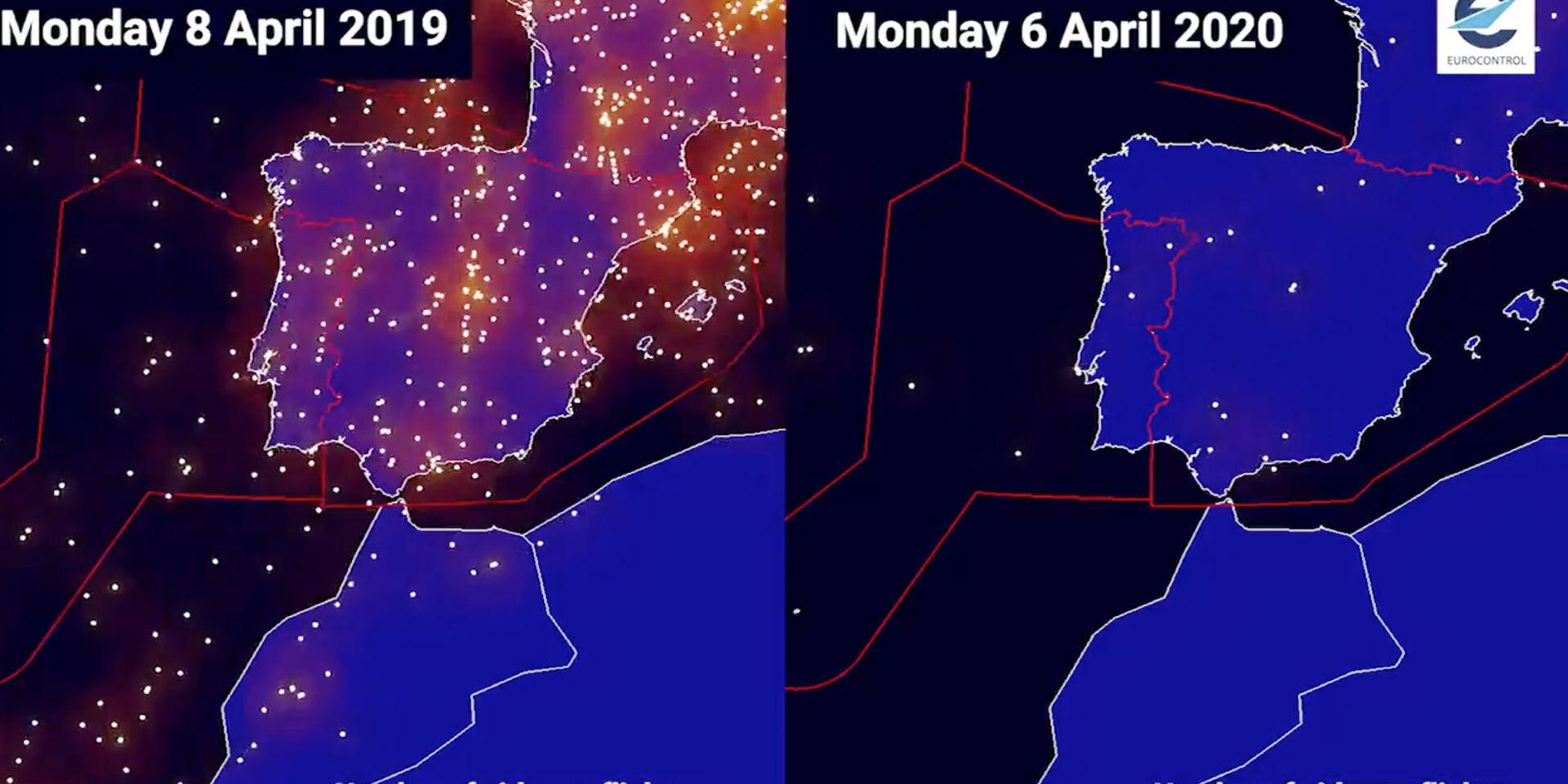 Mapa Vuelos En Directo.Espana Sin Aviones Los Graficos Que Muestran La Reduccion Del Trafico Aereo Por El Coronavirus Libre Mercado