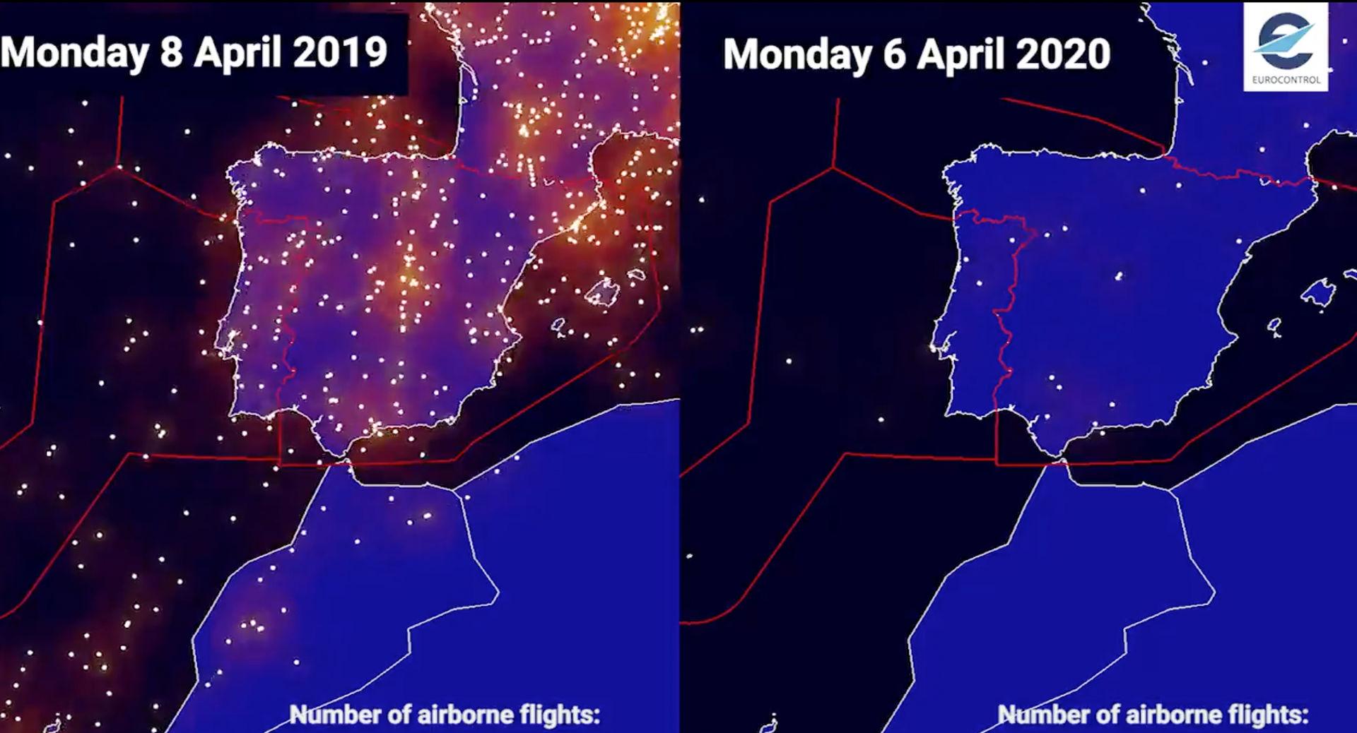 España Sin Aviones Los Gráficos Que Muestran La Reducción Del Tráfico Aéreo Por El Coronavirus Libre Mercado