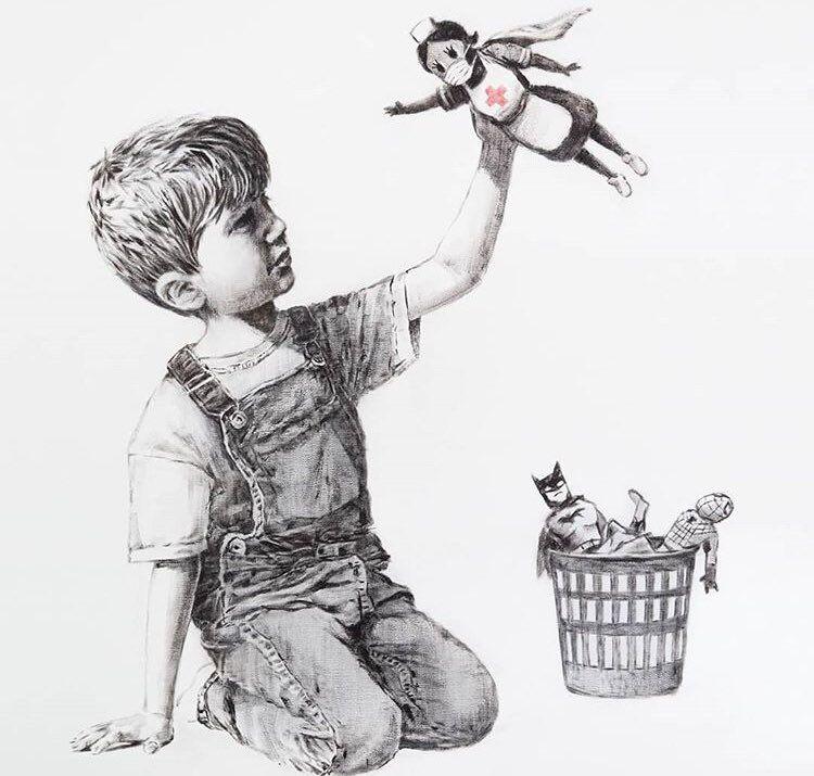 Banksy se cuela en un hospital para homenajear a los sanitarios ...