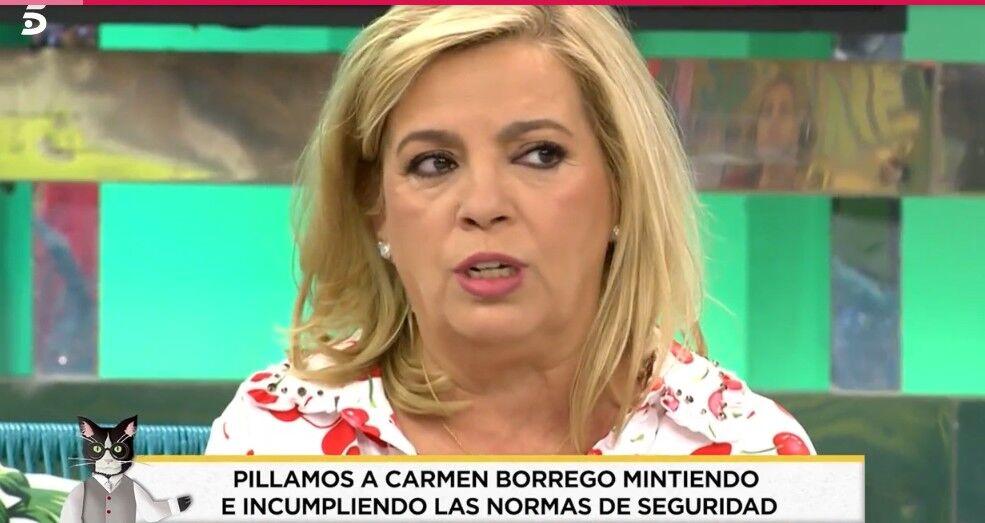 Pillan a Carmen Borrego en una clínica estética a pesar de sus positivos en coronavirus