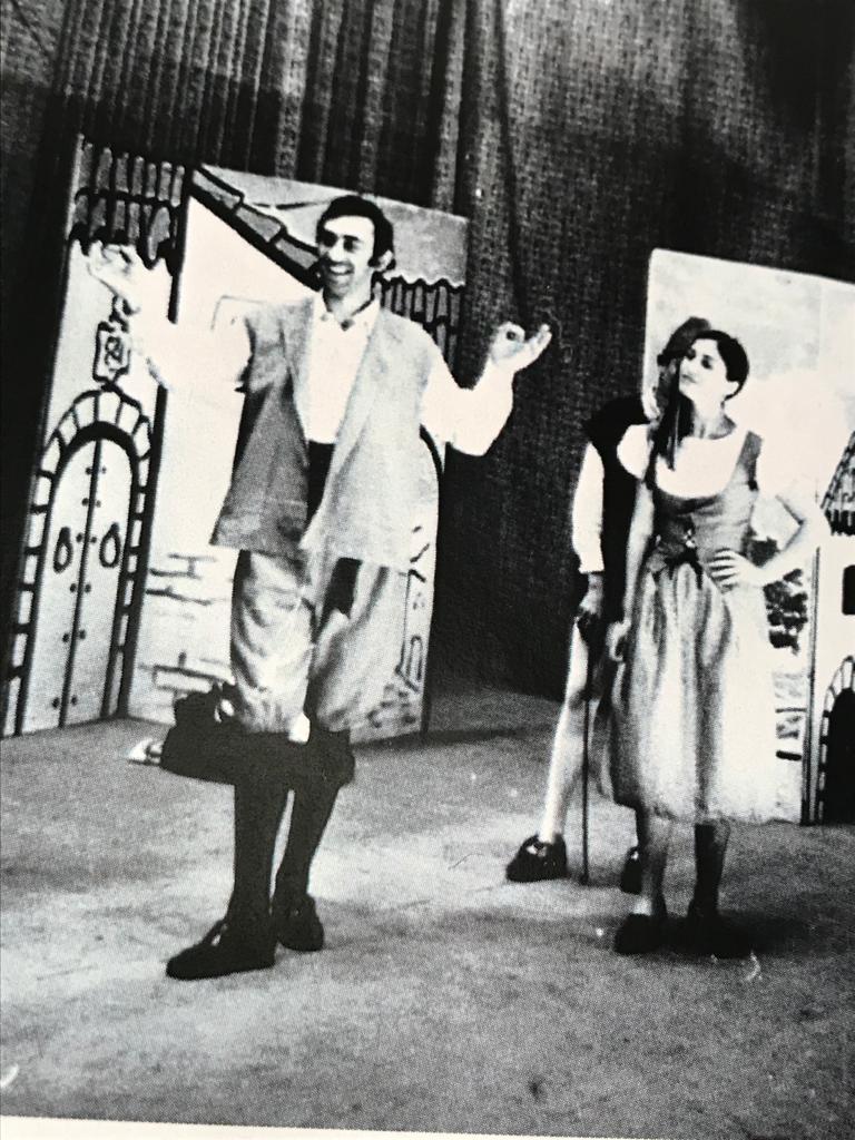 """Joaquín haciendo """"Los habladores"""" con Carmen Magallón."""