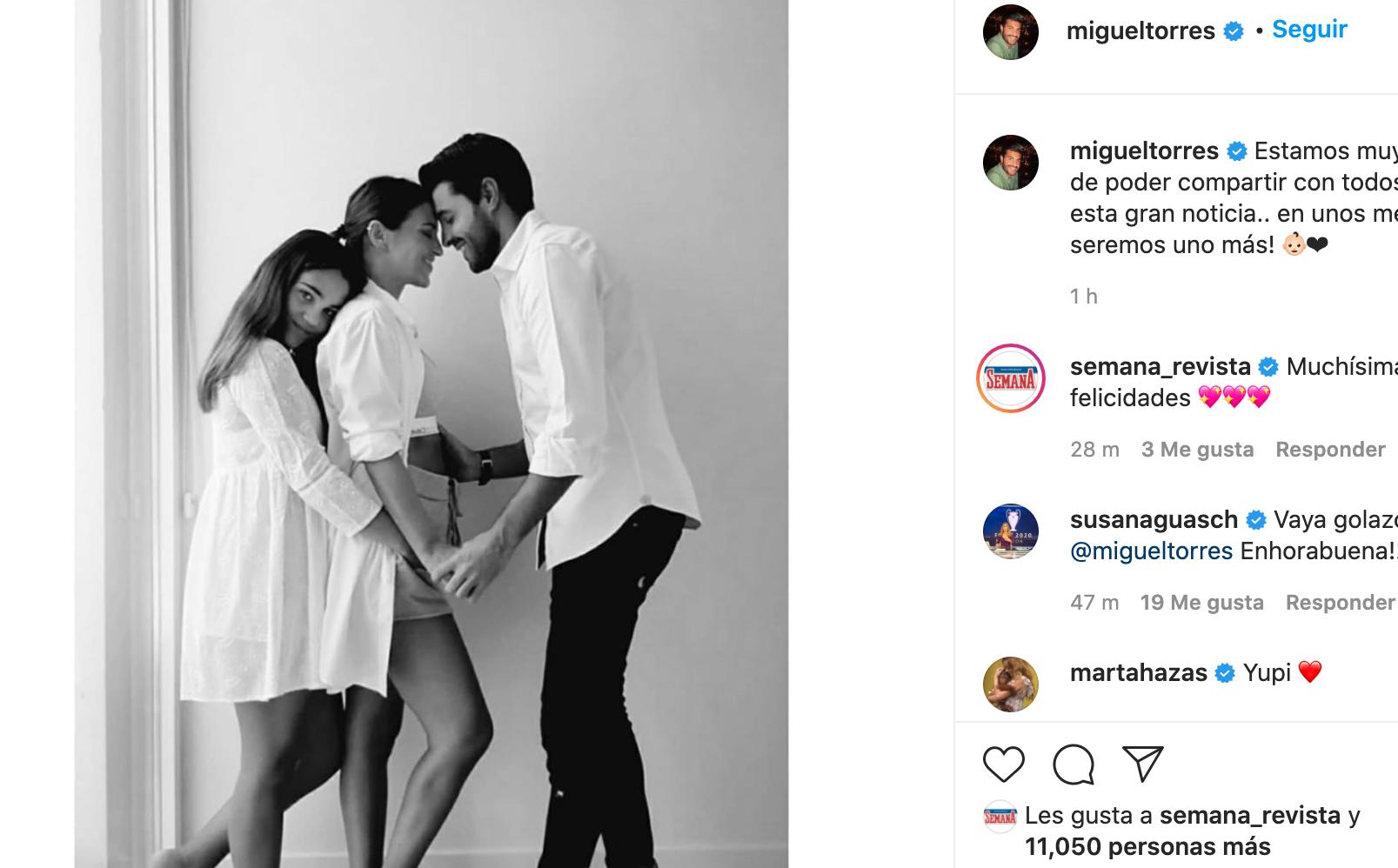 Paula y Miguel, embarazados