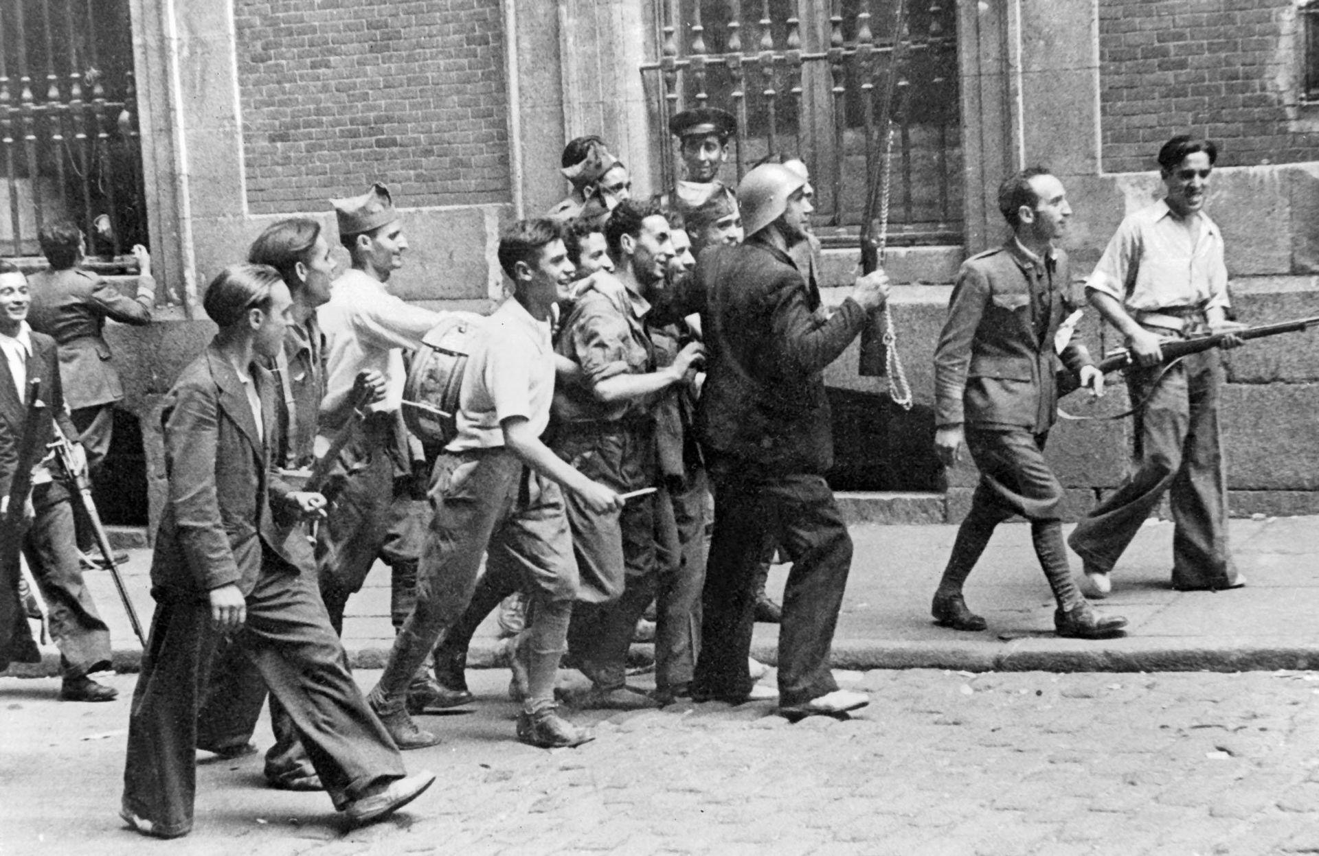 Favorables al Frente Popular en Madrid en 1936