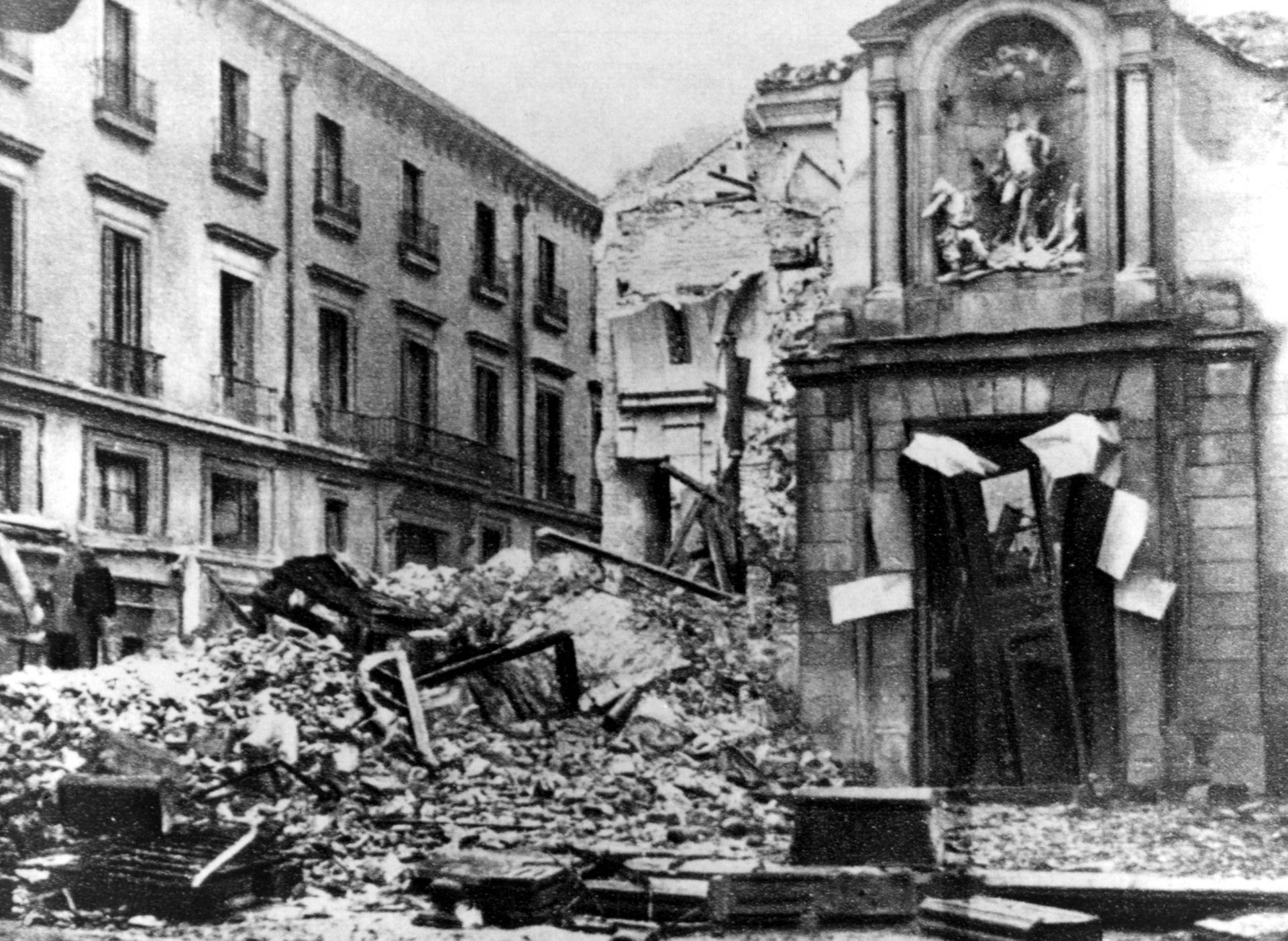Iglesia asaltada e incendiada en 1936