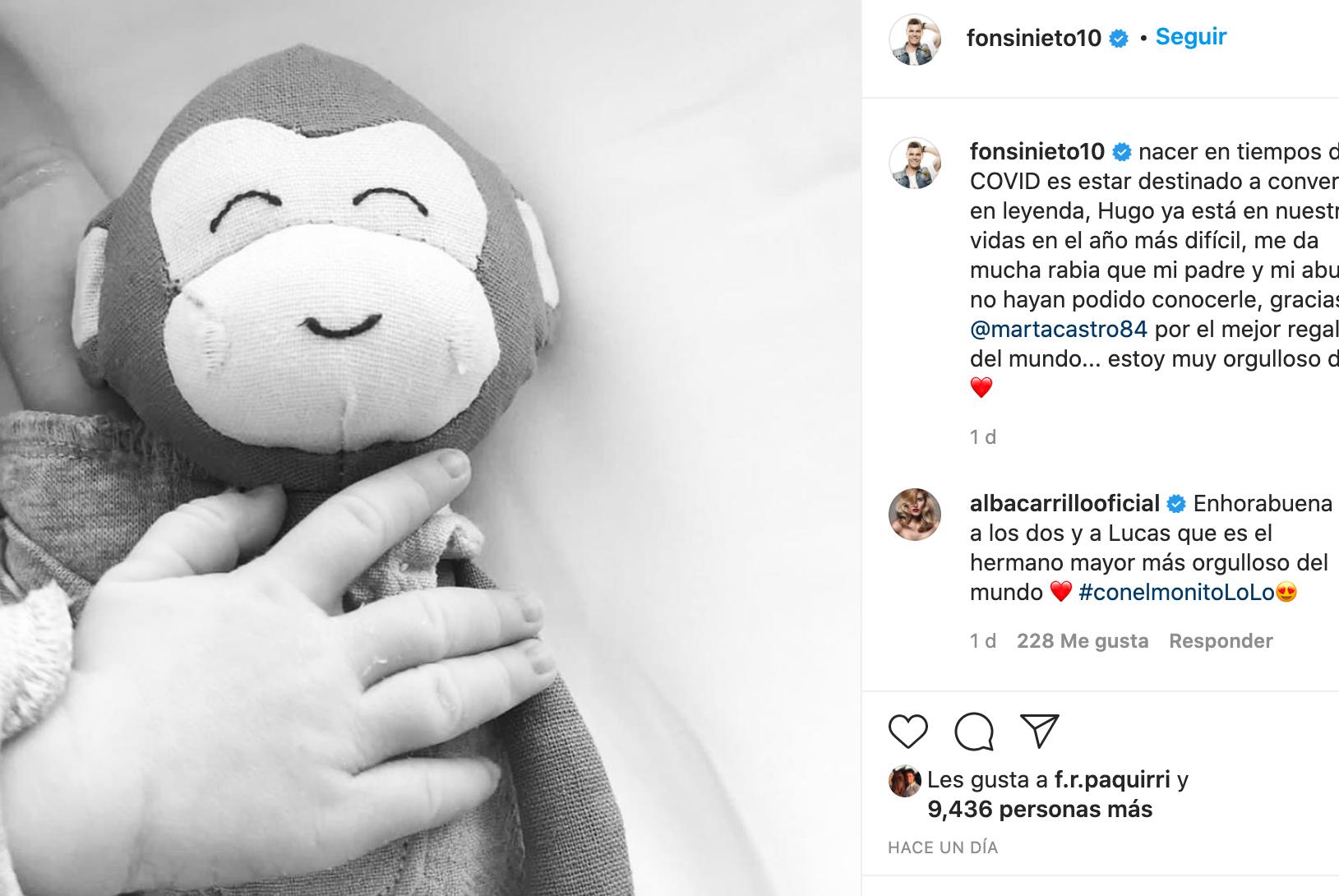 Anuncio de Fonsi Nieto   Instagram