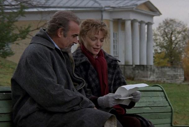 Sean Connery y Michelle Pfeiffer en 'Casa Rusia'
