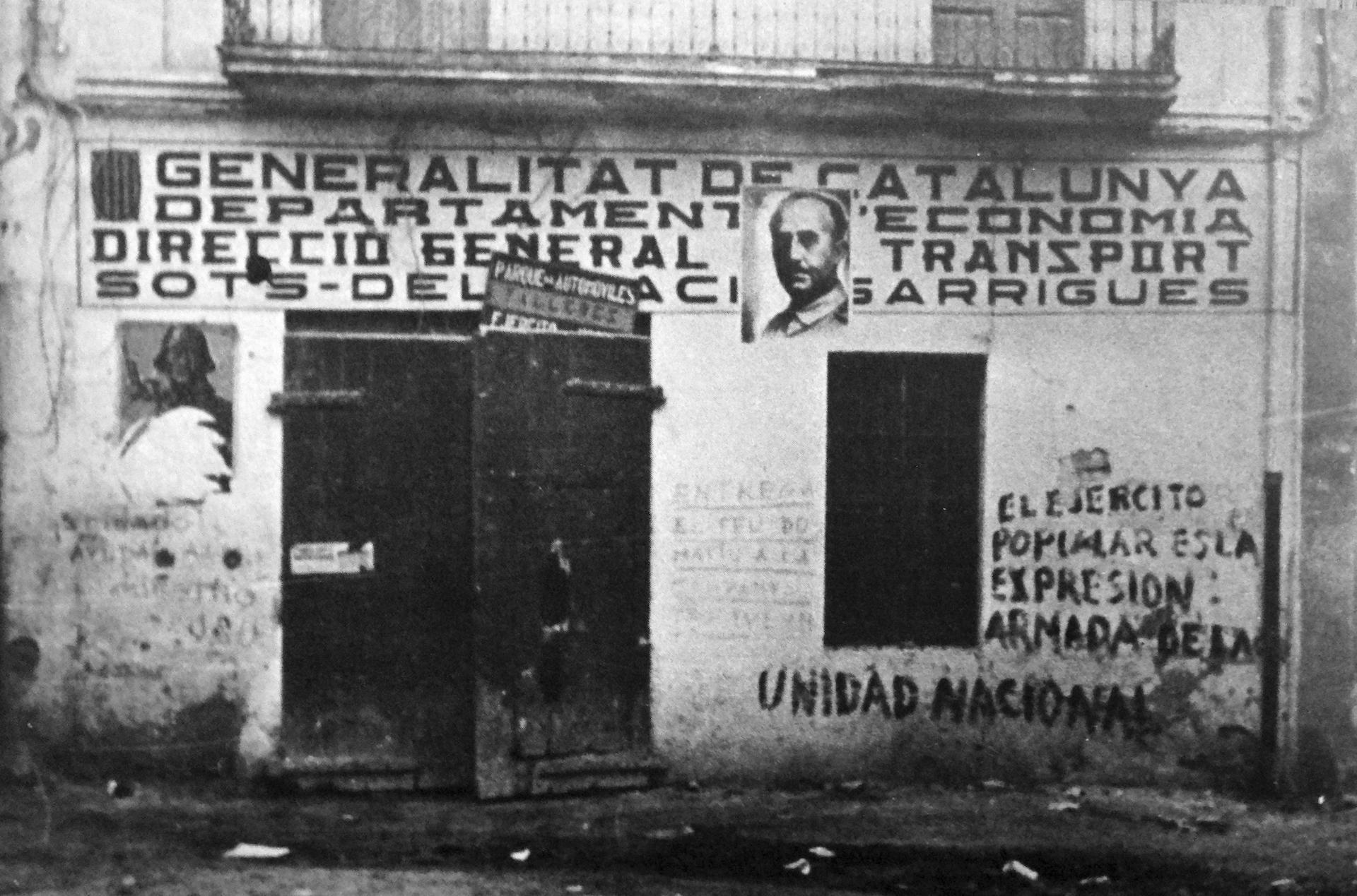 Imagen de Franco en Barcelona en 1939