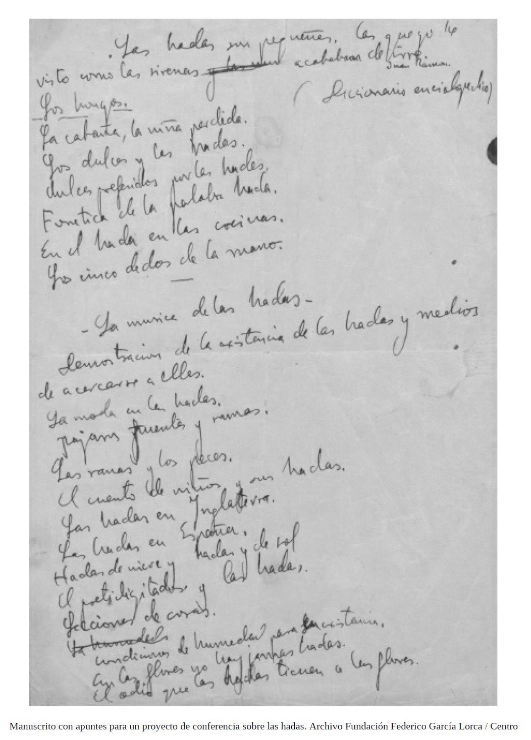 Notas de Lorca