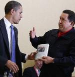 Obama y Chávez.