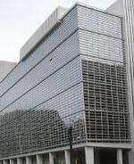 Vista parcial del edificio principal del BM en Washington.