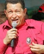 El ex golpista Hugo Chávez, con una camiseta de Che Guevara.